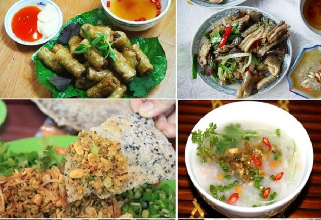Các món ăn hấp dẫn từ đẻn biển